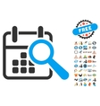Find Date Icon With 2017 Year Bonus Symbols vector image