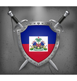 Flag of Haiti Medieval Background vector image vector image