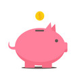 flat style piggy bank icon vector image