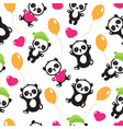 funny cartoon panda baby bear children vector image vector image