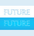 future - caption in blue color isolated on white vector image vector image
