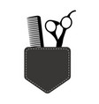 hair stylist tools logo beauty haircut salon vector image