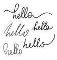 handwriting word vector image