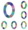 Happy colorful fractal font set - letter O vector image vector image