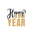 happy new year christmas holidays inscription vector image