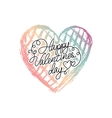 heart with gradient color vector image vector image