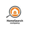 home search logo vector image