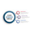 infographic template with three steps vector image vector image
