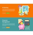 Internet Online Banking and Financial Management vector image vector image