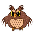 isolated emoji character cartoon angry owl vector image vector image