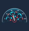 isolated speedometers for dashboard device for vector image vector image
