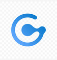 letter g blue icon vector image