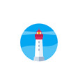 lighthouse icon on white flat vector image