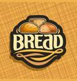 logo for bread vector image
