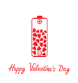 Love battery with hearts inside Valentines Day vector image vector image