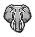 mascot stylized elephant head vector image vector image