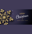 merry christmas and happy new year banner with vector image vector image