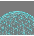 Mesh polygonal background Scope of lines and dots vector image vector image
