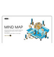 mind map visual thinking tool isometric landing vector image vector image
