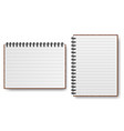 notebook with spiral line realistic paper vector image vector image