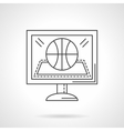 Online game flat line design icon vector image vector image