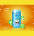 packaging with coconut water drink vector image vector image