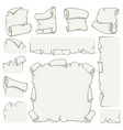 paper scrolls old papyrus sheets vector image