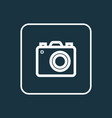 photo apparatus outline symbol premium quality vector image vector image