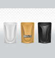 products polyethylene packaging realistic vector image vector image
