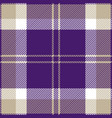 purple grey and white tartan plaid seamless patter vector image vector image