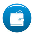 purse pay icon blue vector image