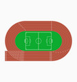 running track and soccer or football field vector image vector image