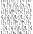 seamless pattern with sketch style asparagus tile vector image vector image