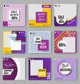 set covers design in minimal geometric style vector image