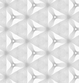 Slim gray hatched small trefoils and triangles vector image vector image