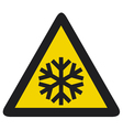snowflake signSnow warning sign vector image