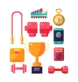 Sports Inventory Items Set vector image vector image