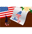 stylish american design US Independence Day July vector image vector image