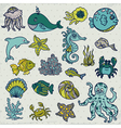 Summer sea life creatures vector | Price: 1 Credit (USD $1)