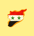 syria - map colored with syrian flag vector image vector image