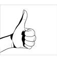 Thumb up BW vector image vector image