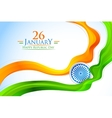 Tricolor India banner with Indian flag vector image vector image