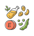 vitamin e color icon peanuts peas and beans seed vector image vector image
