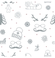 winter seamless ornament vector image