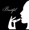 beauty girl silhouette beautiful woman vector image