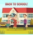 school orthogonal composition vector image