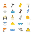 Construction Flat Icons color vector image