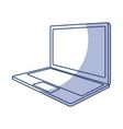 shadow laptop cartoon vector image