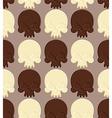 Skull white and dark chocolate seamless pattern vector image