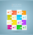 square menu icons for infographic vector image